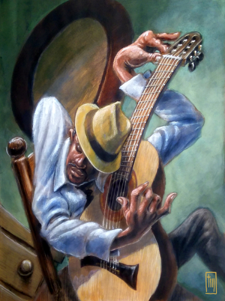 Thomas Marsh Creations artist Los Angeles art artwork color painting illustration Musician Guitarist